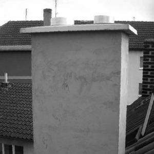 Demontáž starého a stavba nového komínu